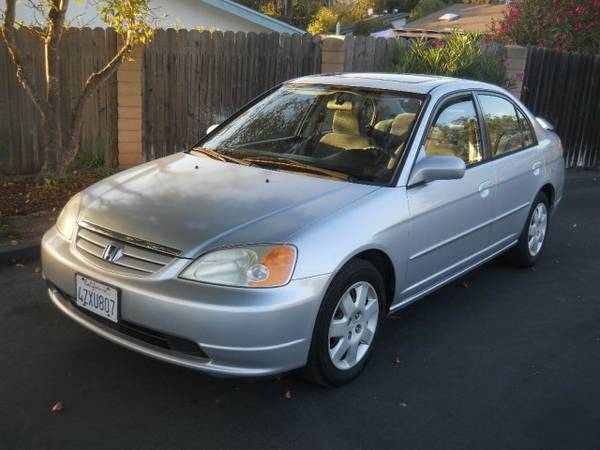 2002 Honda Civic 4dr Sdn EX Auto w/Side Airbags Financing Available!!