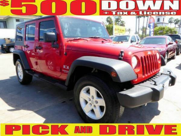 $500 DOWN PICK & DRIVE (oac) 2008 JEEP WRANGLER UNLIMITED X