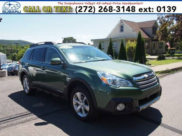 2014 *Subaru Outback* 2.5i Limited W/Moonroof (Green) BAD CREDIT OK!