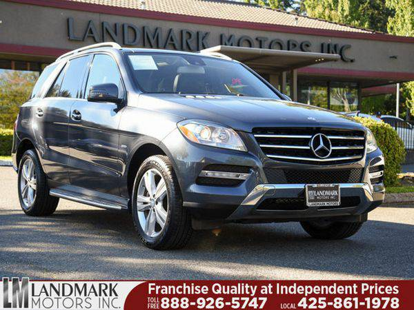 2012 *Mercedes-Benz* *M-Class* 4MATIC 4dr ML350 - www.LandmarkMotors.c