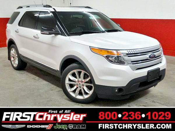2014 *Ford Explorer* XLT-4x4 - Ford White Platinum Metallic Tri-Coat