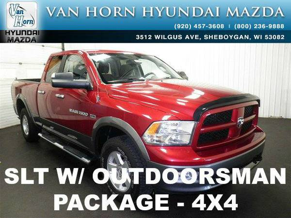 2012 *RAM 1500* SLT OUTDOORSMAN - Flame Red Clearcoat BAD CREDIT OK!