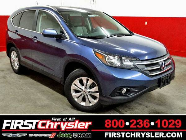 2014 *Honda CR-V* EX-L - AWD - Honda Twilight Blue Metallic