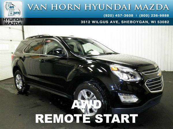 2016 *Chevrolet Equinox* LT AWD REMOTE START - Black BAD CREDIT OK!