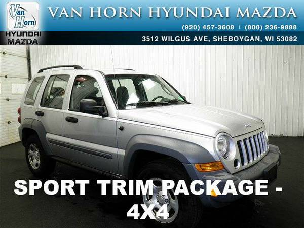 2005 *Jeep Liberty* Sport 4X4 - Bright Silver Metallic Clearcoat BAD...