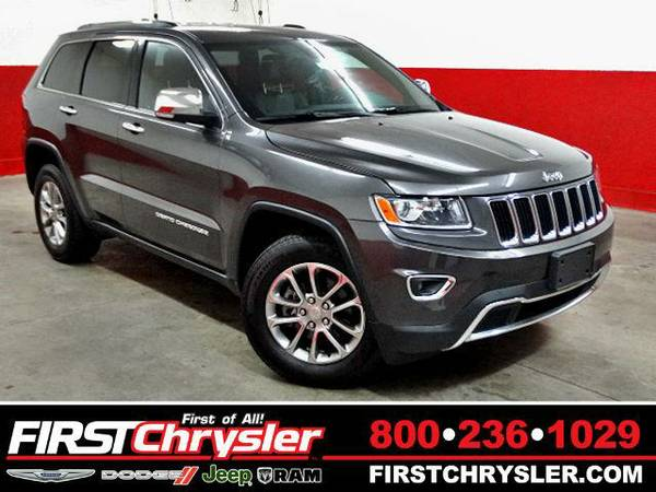 2015 *Jeep Grand Cherokee* Limited - Jeep Granite Crystal Metallic...