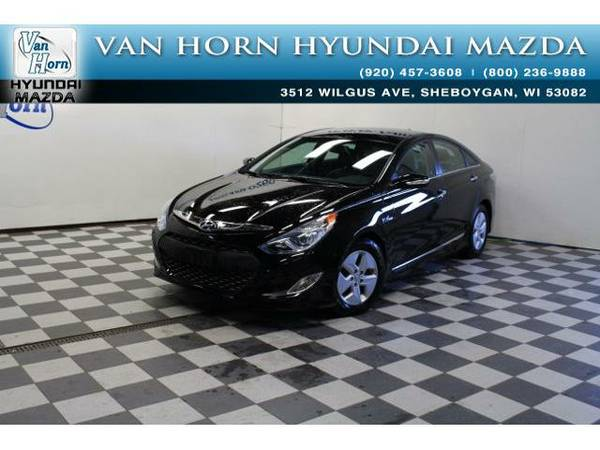 2012 *Hyundai Sonata Hybrid* Leather Pkg - Black Onyx Pearl Mica BAD...