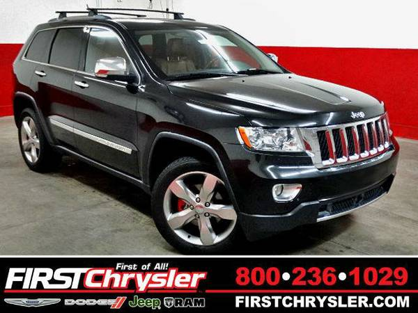 2011 *Jeep Grand Cherokee* Overland-4x4 - Jeep Brilliant Black...