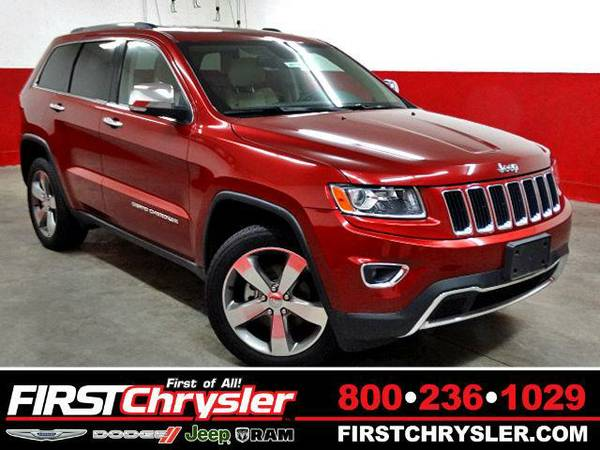 2014 *Jeep Grand Cherokee* Limited-4x4 - Jeep Deep Cherry Red Crystal