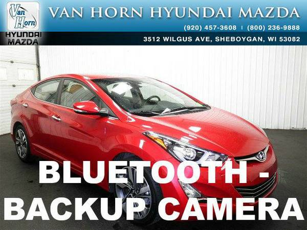 2014 *Hyundai Elantra* Limited - Geranium Red BAD CREDIT OK!
