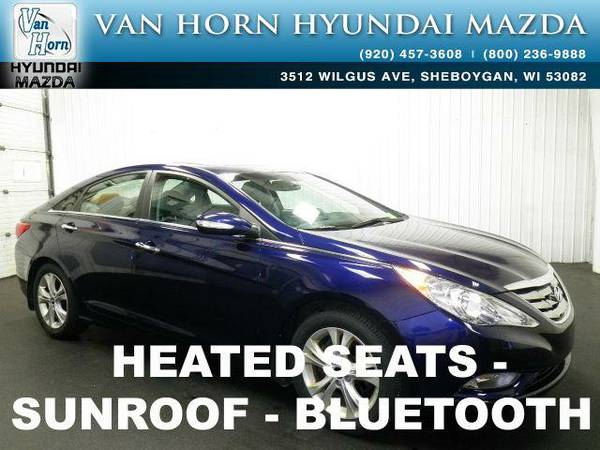 2013 *Hyundai Sonata* Limited LTHR ROOF - Indigo Night Mica BAD...