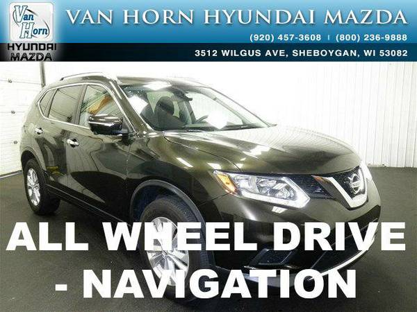 2014 *Nissan Rogue* SV AWD - Midnight Jade BAD CREDIT OK!