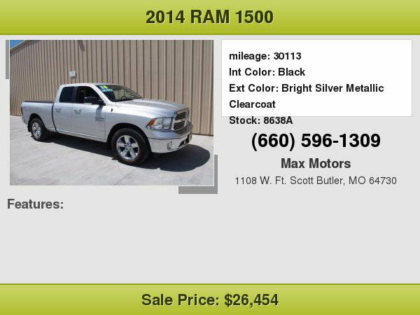 2014 Ram 1500 SLT **WE FINANCE**WE LOVE TRADE-INS**