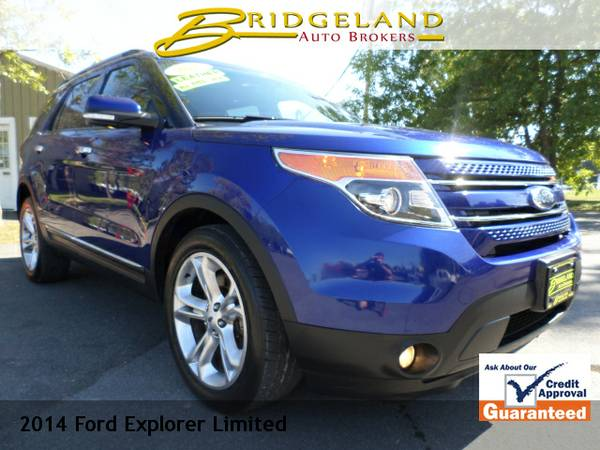 2014 Ford Explorer LIMITED .. LEATHER DUAL ROOFS SUPER SHARP COLOR!