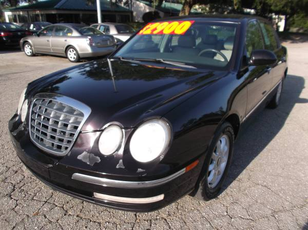 CASH SALE!--------------BLACK 2005 KIA AMANTI -SEDAN-128 K MILES $2499