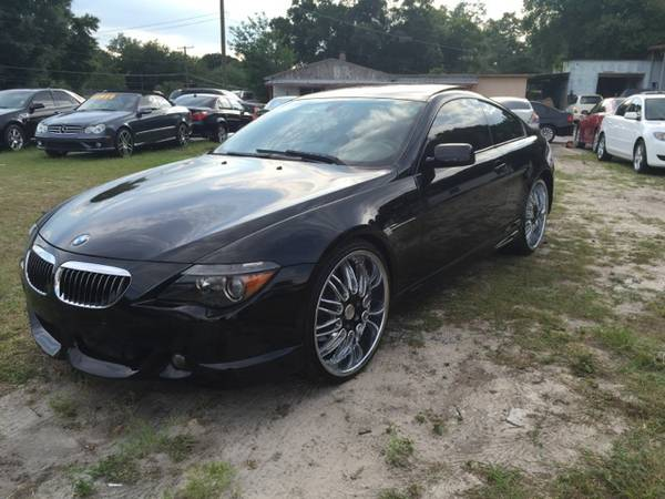 Very Nice-2005 BMW 645ci Coupe -Blk/Blk-Staggered Wheels!