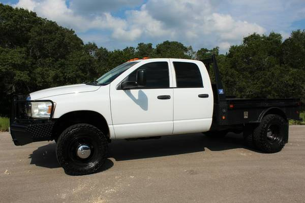 2007 DODGE RAM 3500 5.9L CUMMINS DIESEL FLATBED 6SPD 4X4 AWESOME!!!