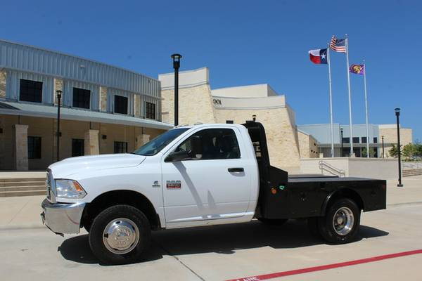 2012 SINGLE CAB FLATBED 4X4 - 6SPEED - 6.7LCUMMINS - CLEANCARFAX -