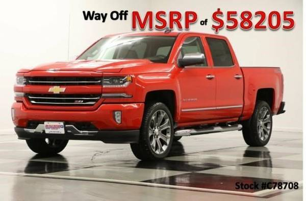 *SUNROOF - SILVERADO 1500 4X4 CREW* 2017 Chevy *LEATHER - 22 IN Rims*