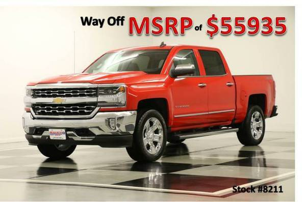 *LOADED Red SILVERADO 1500 4X4 w DVD* 2016 Chevy *LEATHER - GPS NAV*