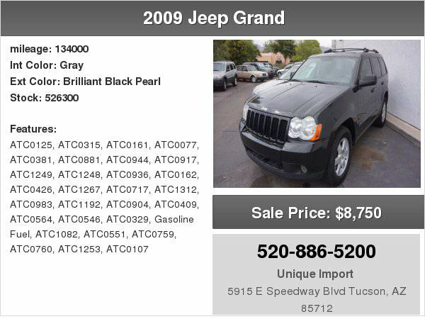 2009 Jeep Grand Laredo We finance any one with right down payment!!!!!
