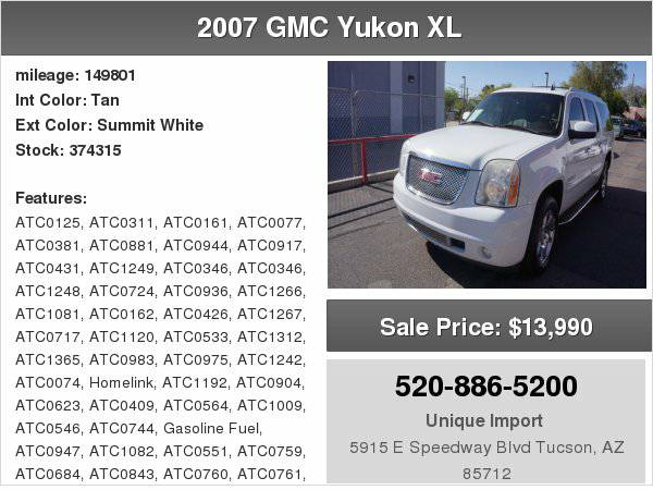 2007 GMC Yukon XL Denali Unique Imports