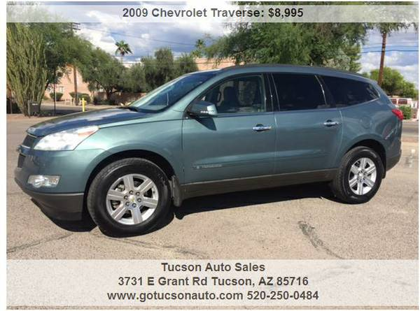 2009 CHEVROLET TRAVERSE LT ........... THIRD ROW SEAT! WE FINANCE!