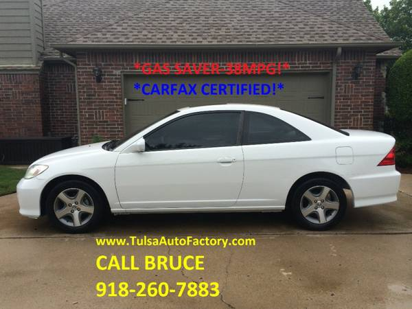 2004 Honda Civic EX Coupe White 5spd Manual *Carfax Certified* *33MPG*
