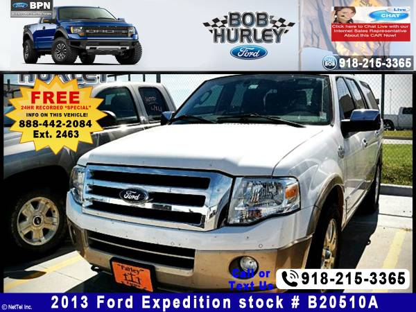 2013 Ford Expedition King Ranch Stock #B20510A