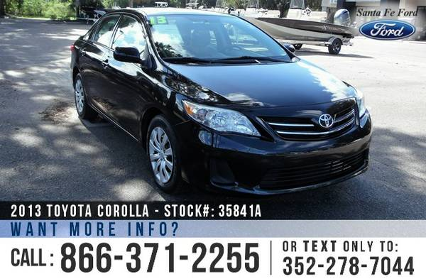 *** 2013 Toyota Corolla Sedan *** Used Car - Financing Available!