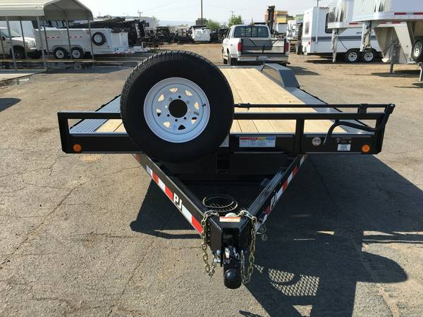 22ft long Buggy Hauler with Drive Over Fender, Buggy Trailer, PJ B6222