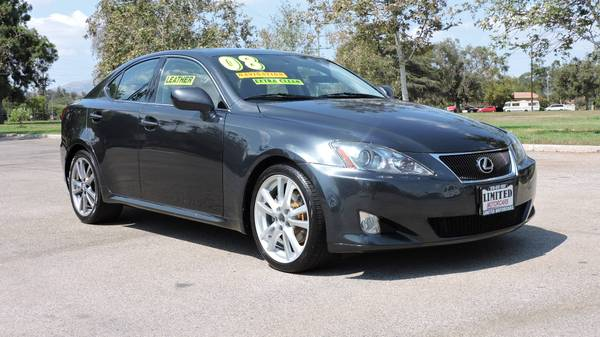 2008 *LEXUS* *IS* *250 CHARCOAL GRAY WITH BLACK INTERIOR FULLY LOADED