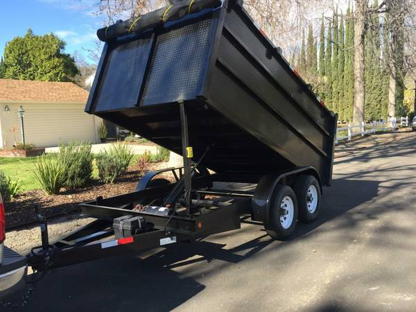 8 x 12 x 4 Dump Trailer BRAND NEW HD FREE DELIVERY