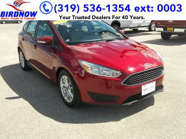 2016 *Ford Focus* SE (Ruby Red Tinted)