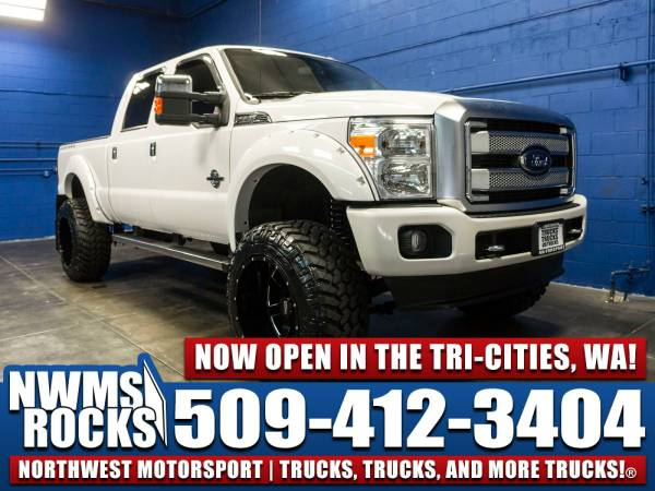 Lifted 2016 *Ford F350* Lariat 4x4 - BRAND NEW LIFT KIT! 2016 Ford F-3