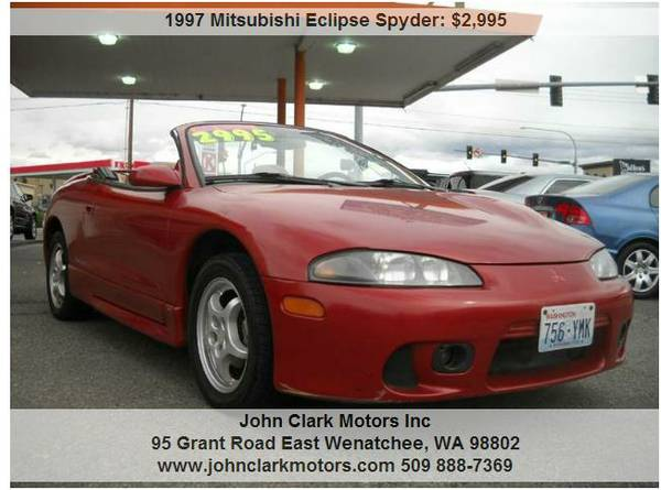 1997 MITSUBISHI ECLIPSE CONVERTIBLE..5 SPEED...LOW MILES...LOCAL TRADE