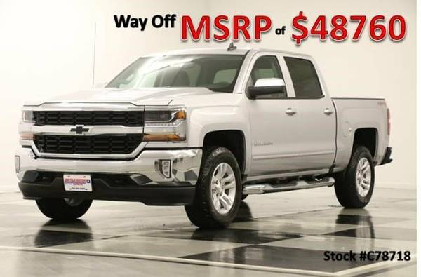 *LOADED Silver SILVERADO 1500 4X4* 2017 Chevy *GPS NAV - LEATHER*