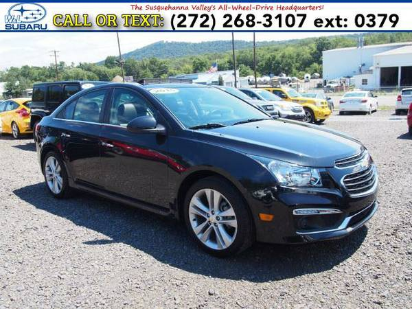 2015 *Chevrolet Cruze* 4DR SDN LTZ (Black) BAD CREDIT OK!