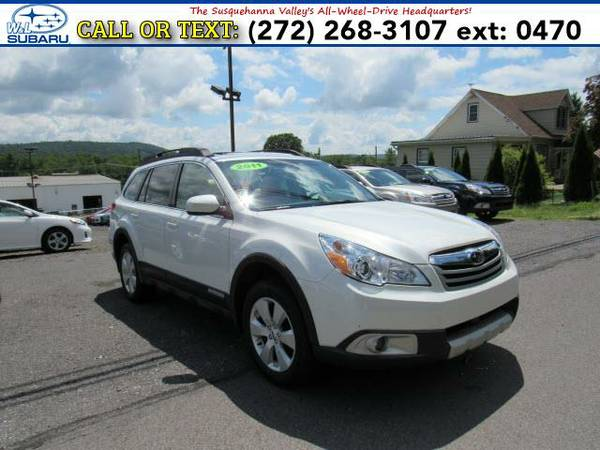 2011 *Subaru Outback* LIMITED W/MOONROOF (White) BAD CREDIT OK!