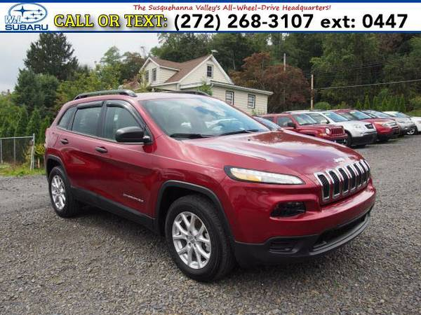 2015 *Jeep Cherokee* 4WD 4DR SPORT (Red) BAD CREDIT OK!