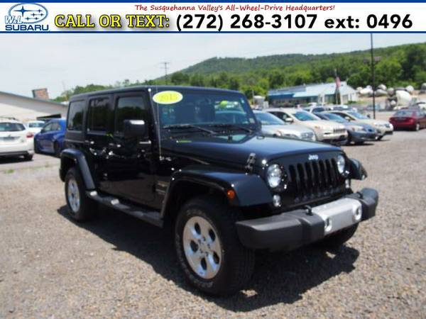 2015 *Jeep Wrangler Unlimited* 4WD 4DR SAHARA () BAD CREDIT OK!