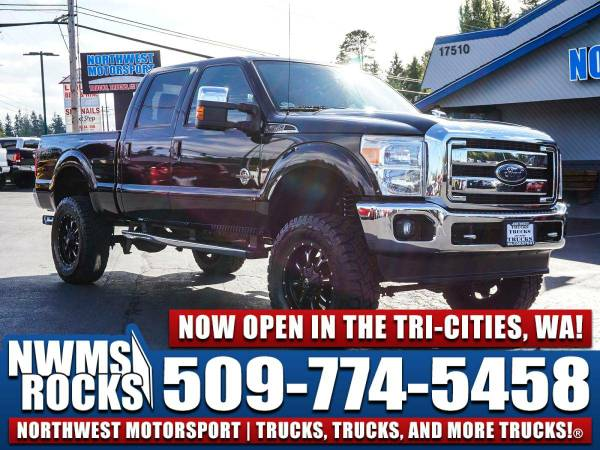 Lifted 2014 *Ford F350* Lariat 4x4 - Sunroof! 2014 Ford F-350 Lariat 4