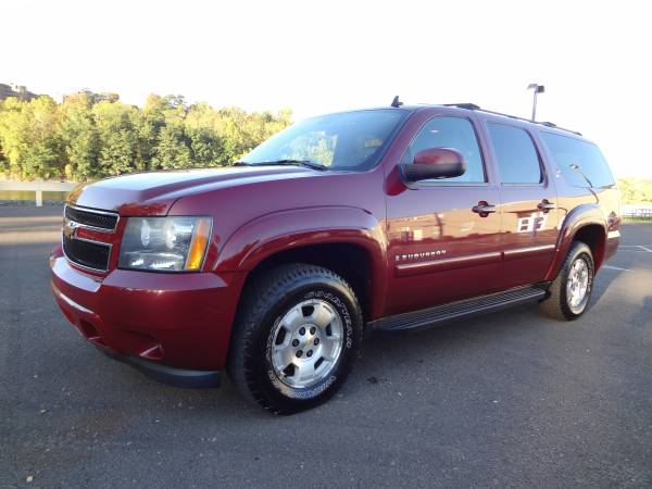 2007 CHEVROLET SUBURBAN LT SUV 4WD LEATHER ROOF LOADED, 3RD ROW DVD !!