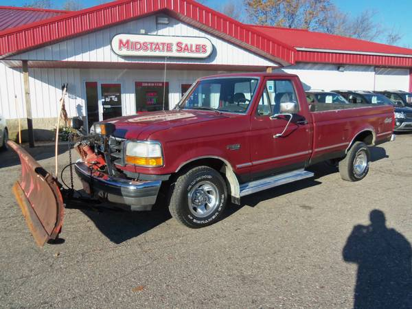 SNOW IS HERE! 1992 FORD F-150 4X4 WITH PLOW GREAT DEAL!