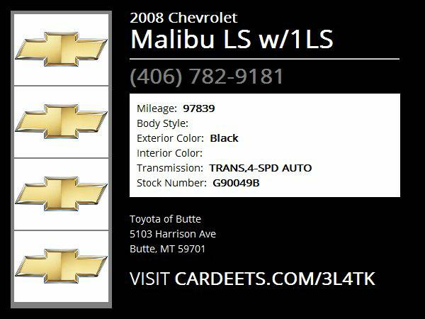 2008 Chevrolet Malibu LS w/1LS - Good Credit, Bad Credit, No Problem