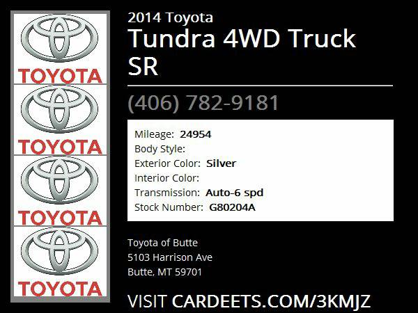 2014 Toyota Tundra 4WD Truck SR - Good Credit, Bad Credit, No Problem