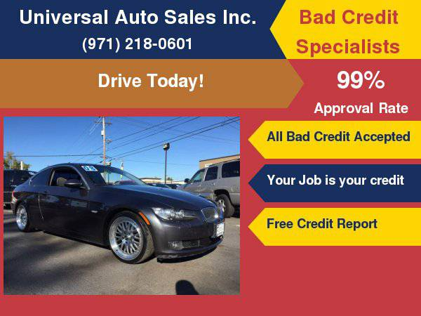 2008 BMW 3 Series 328i 2dr Coupe SULEV No Credit, Bad Credit, BK,...