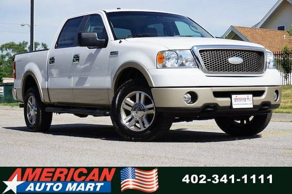 2008 FORD F-150 LARIAT CREW 4X4**SUPER NICE**ONLY 82K**LEATHER**TOW**