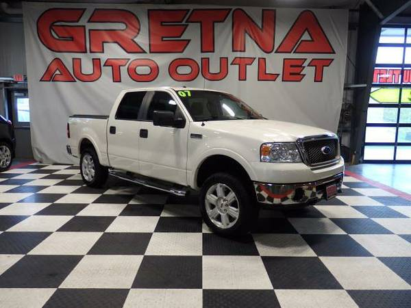 2007 Ford F-150 LARIAT SUPERCREW 4X4 LEVELED HEATED LEATHER LOADED
