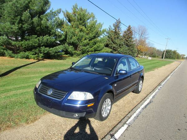 2003 VW Passat GLS, ex cond, 143m, all pwr, moon roof, 30 mpg, nice